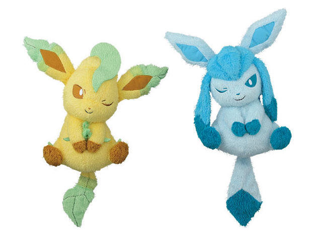 37852_POKEMON SUN _ MOON RELAXING TIME BIG PLUSH-LEAFEON, GLACEON-.jpg